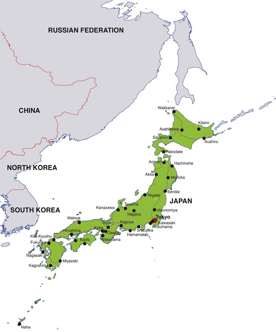 Japan News Articles Japanese News Headlines And News Summaries - Japan map hd