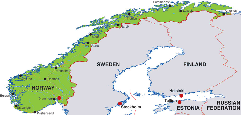 Scandinavia News Articles Scandinavian Headlines And News Summaries - Norway map cities