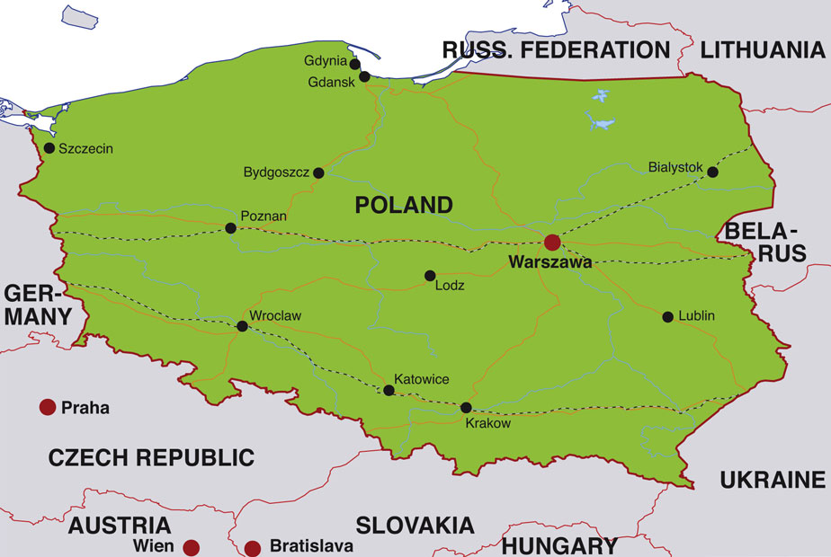 Capital Of Poland Map.Poland Map Before War